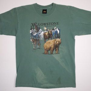 Vintage 90's Yellowstone Park Animal Single Stitch